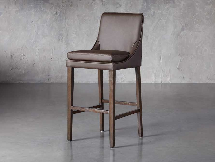 Lunden Faux Leather Dining Side Chair in Espresso, slide 2 of 7