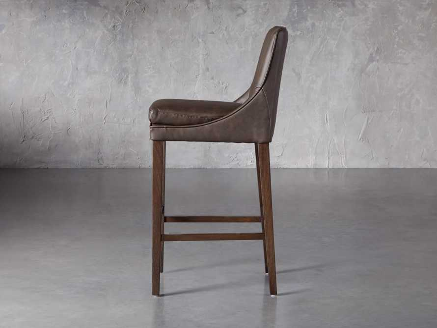 Lunden Faux Leather Dining Side Chair in Espresso, slide 3 of 7