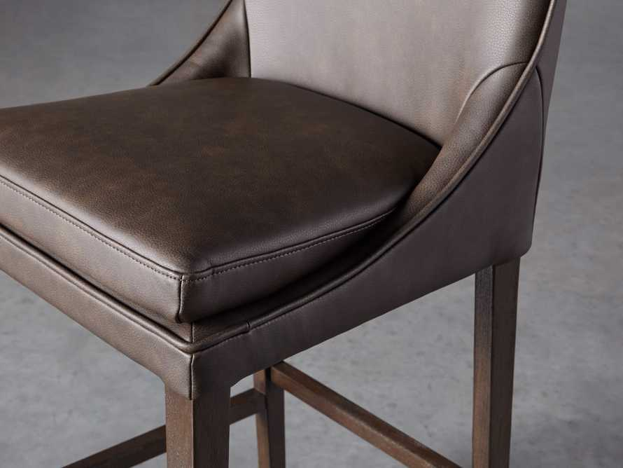 Lunden Faux Leather Dining Side Chair in Espresso, slide 5 of 7