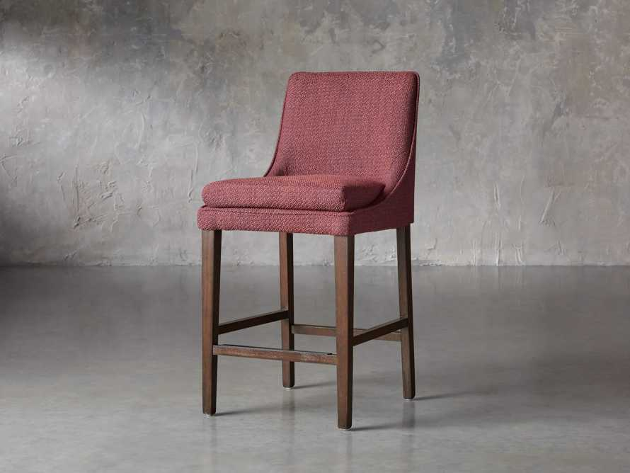 "Lunden Upholstered 19"" Counter Stool in Moto Imperial, slide 2 of 8"