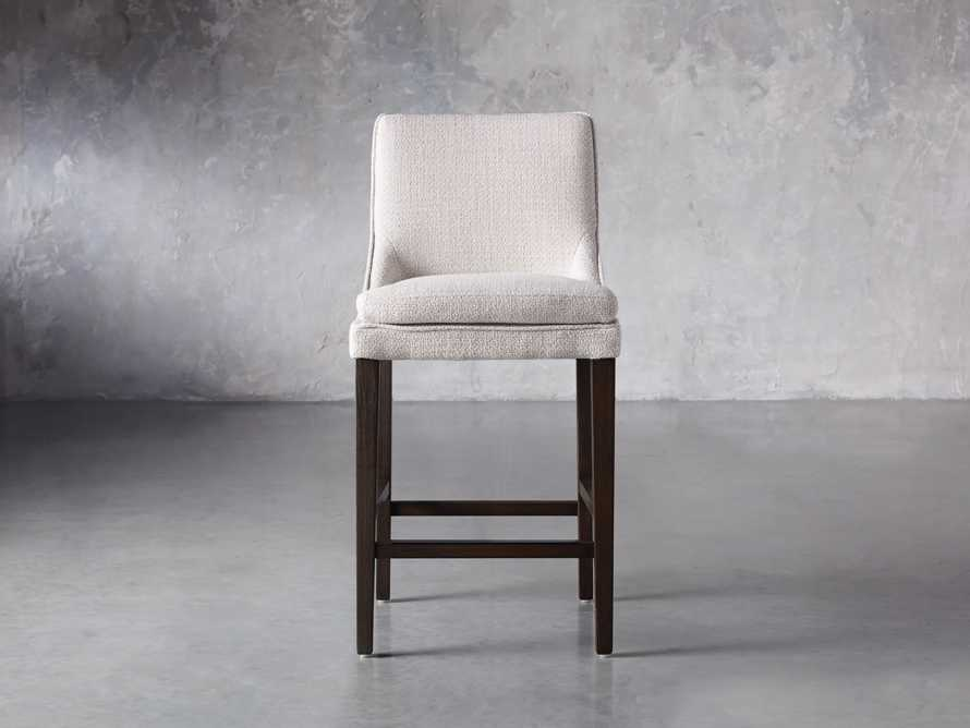 Lunden Upholstered Counter Stool in Moto Stucco, slide 1 of 9