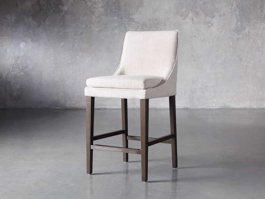 Lunden Upholstered Counter Stool in Moto Stucco, slide 2 of 9