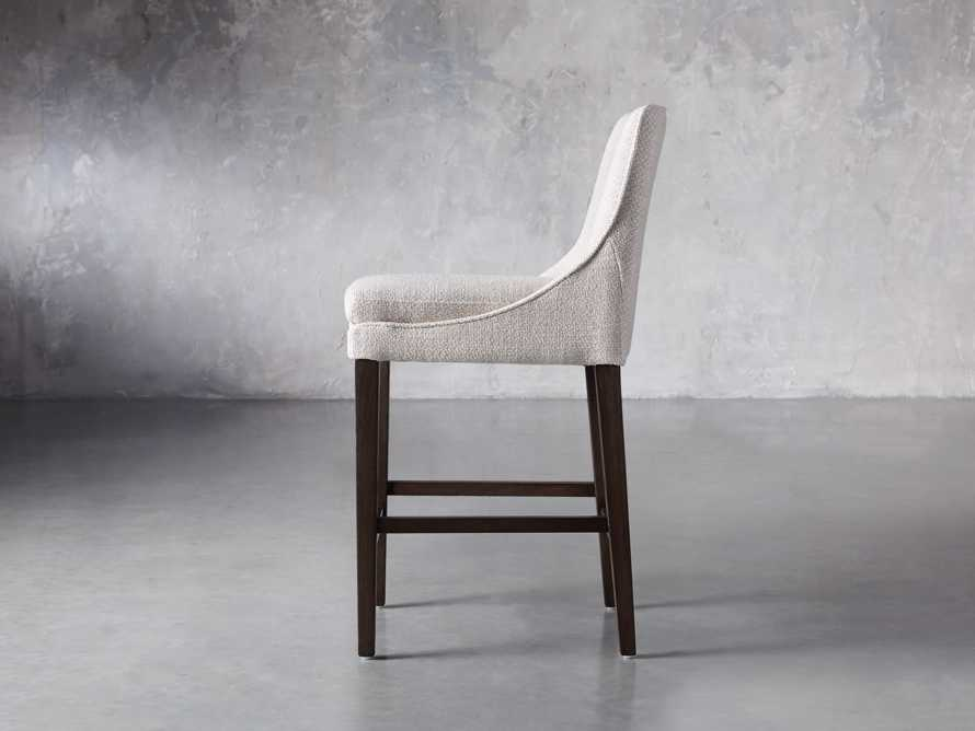Lunden Upholstered Counter Stool in Moto Stucco, slide 3 of 9