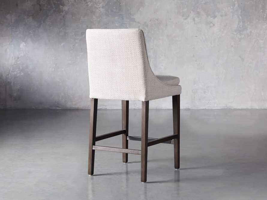 Lunden Upholstered Counter Stool in Moto Stucco, slide 4 of 9