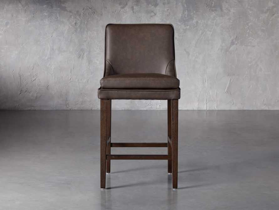 Lunden Faux Leather Counterstool in Espresso, slide 1 of 6