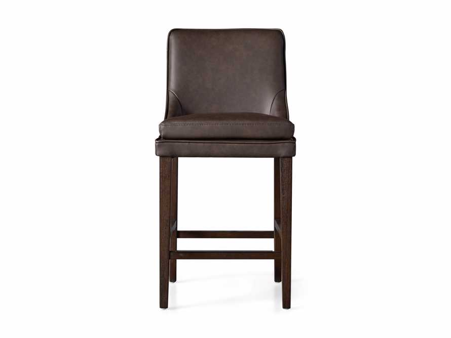 Lunden Faux Leather Counterstool in Espresso, slide 6 of 6