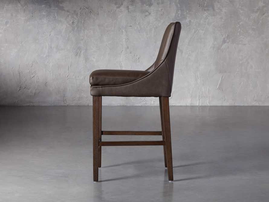 Lunden Faux Leather Counterstool in Espresso, slide 3 of 6