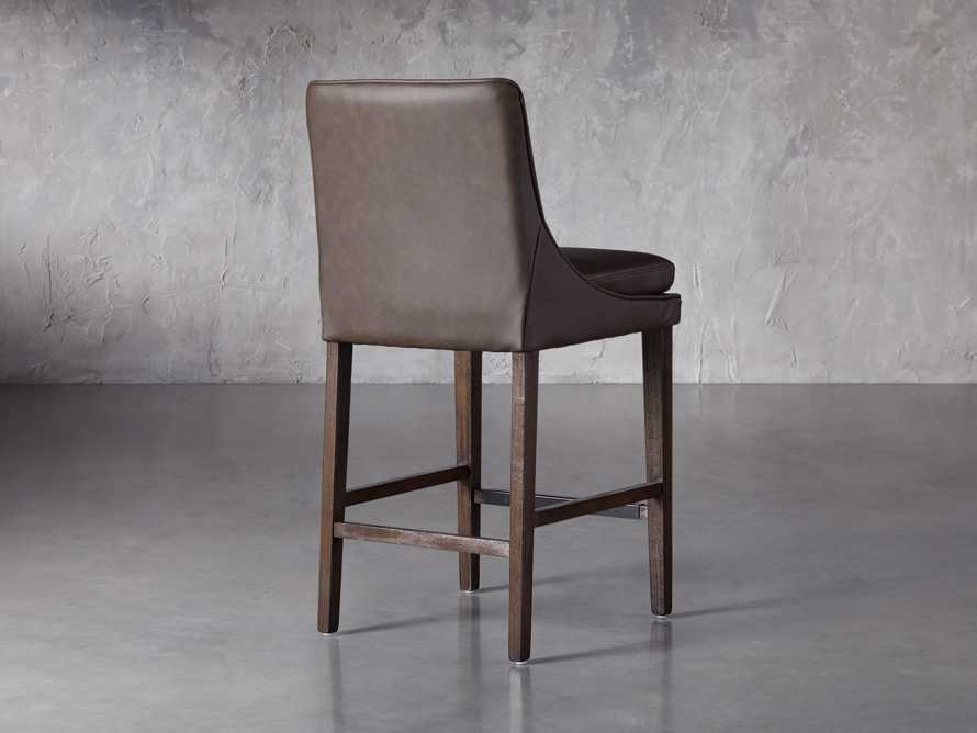 Lunden Faux Leather Counterstool in Espresso, slide 4 of 6