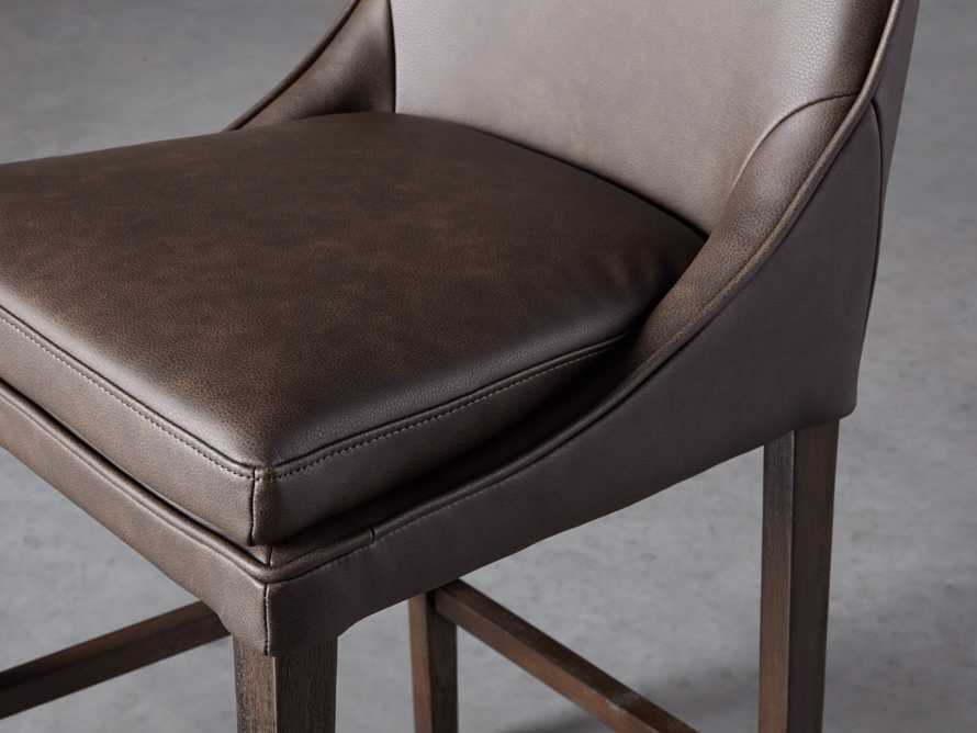 Lunden Faux Leather Counterstool in Espresso, slide 5 of 6