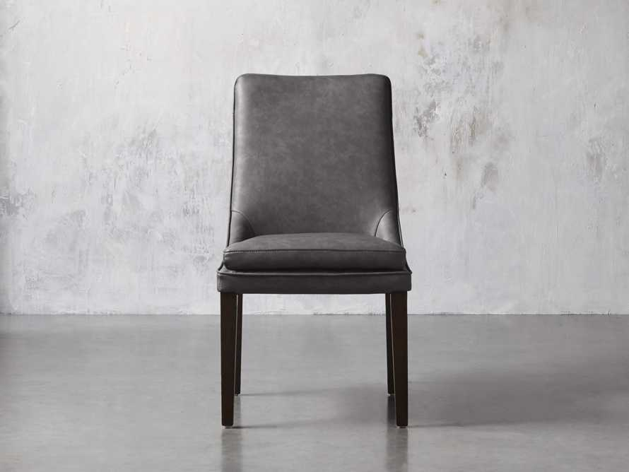 "Lunden Faux Leather 20"" Dining Side Chair, slide 1 of 8"