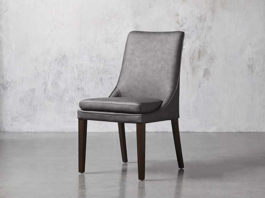 "Lunden Faux Leather 20"" Dining Side Chair, slide 2 of 8"