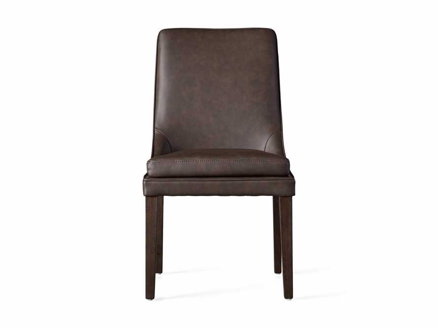 Lunden Faux Leather Dining Side Chair in Espresso, slide 6 of 7