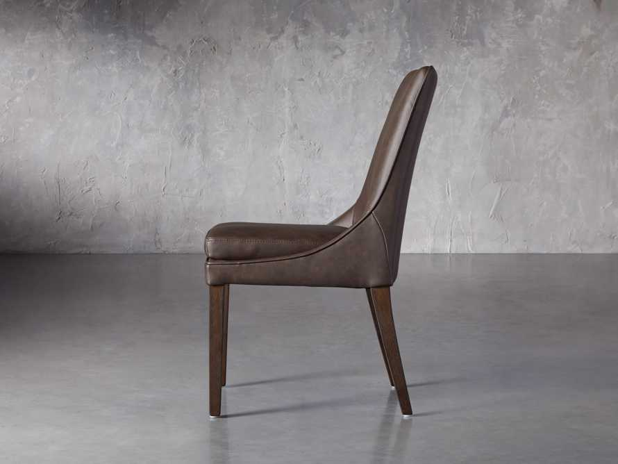 """Lunden Faux Leather 20"""" Dining Side Chair in Espresso, slide 3 of 7"""