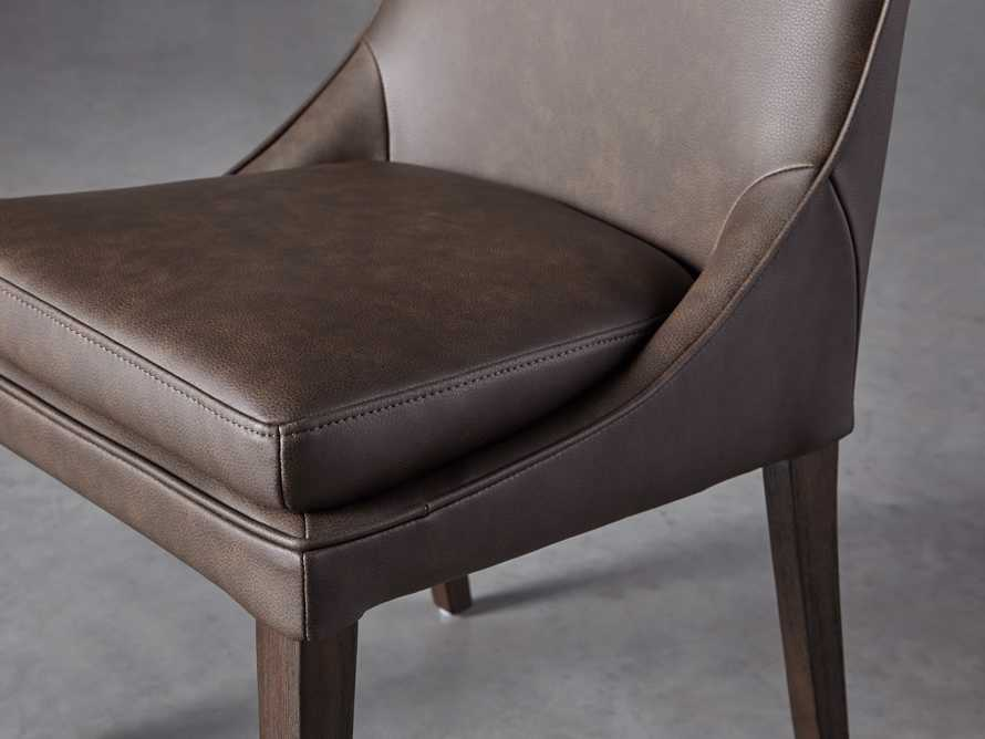 """Lunden Faux Leather 20"""" Dining Side Chair in Espresso, slide 5 of 7"""