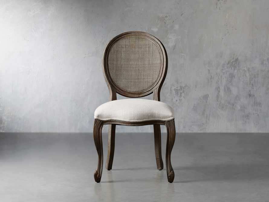 "Margot 23"" Cane Back Dining Side Chair in Cinder"