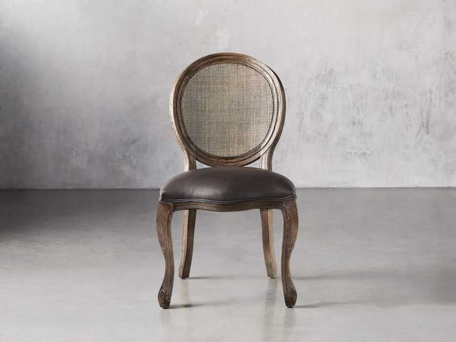 "Margot 23"" Rattan Back Dining Side Chair in Cinder, slide 2 of 9"