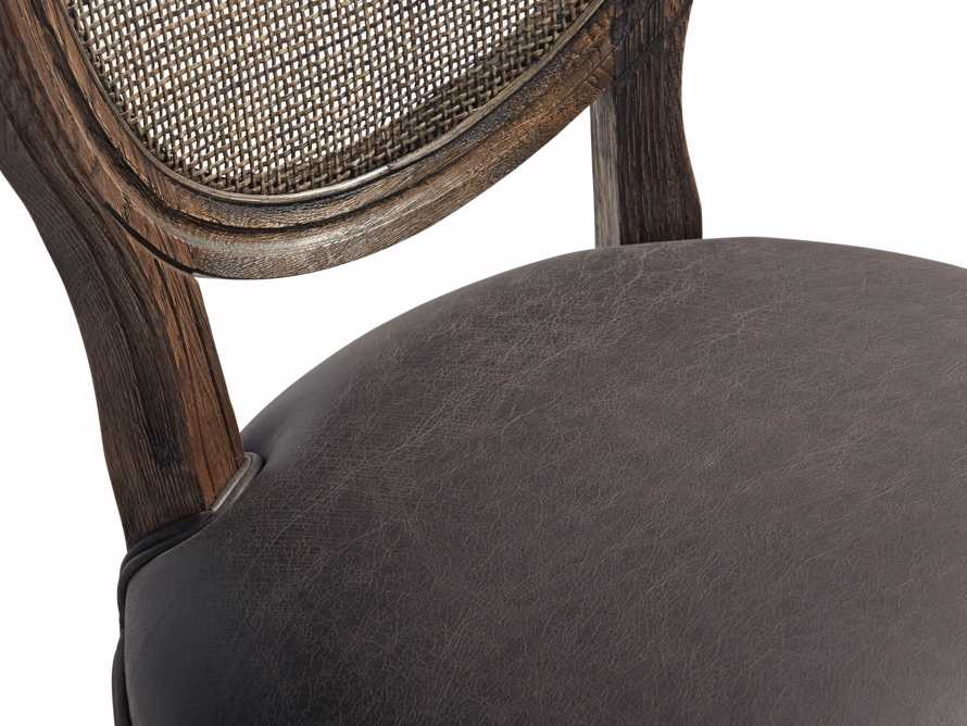 "Margot 23"" Rattan Back Dining Side Chair in Cinder, slide 8 of 9"