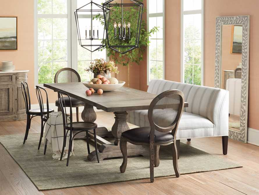 Margot Rattan Back Dining Side Chair in Cinder, slide 7 of 10