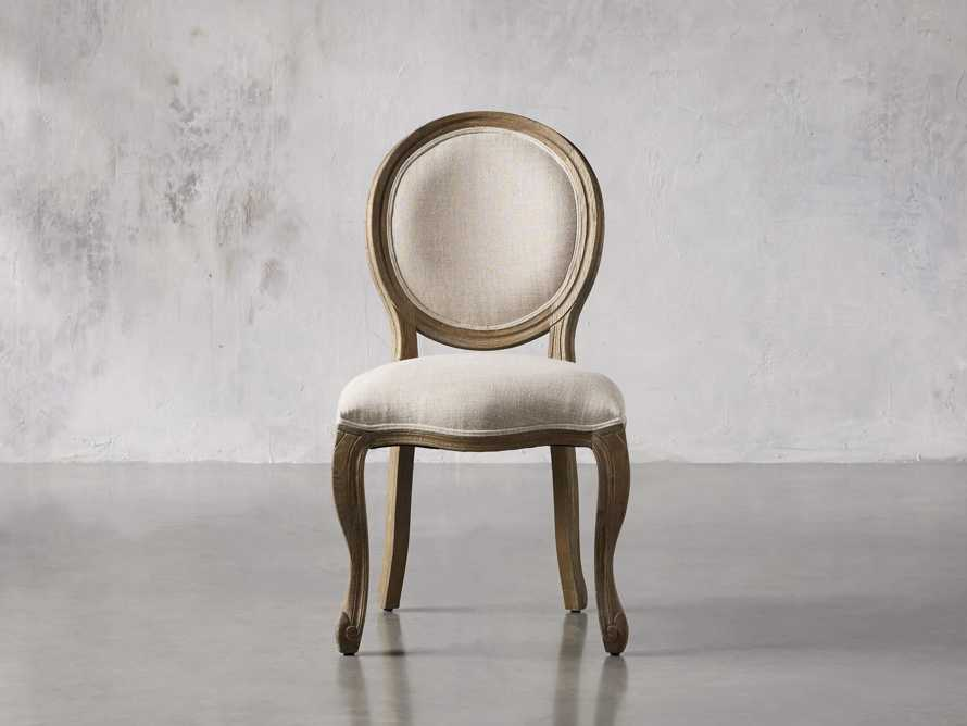 Margot Upholstered Dining Side Chair in Weathered, slide 1 of 6