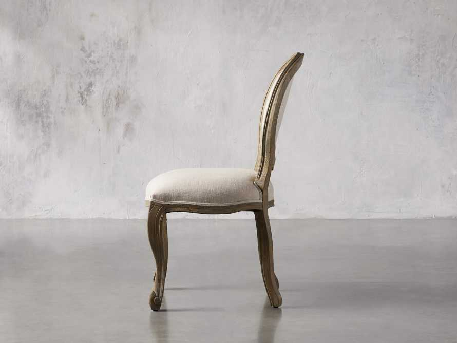 Margot Upholstered Dining Side Chair in Weathered, slide 2 of 6