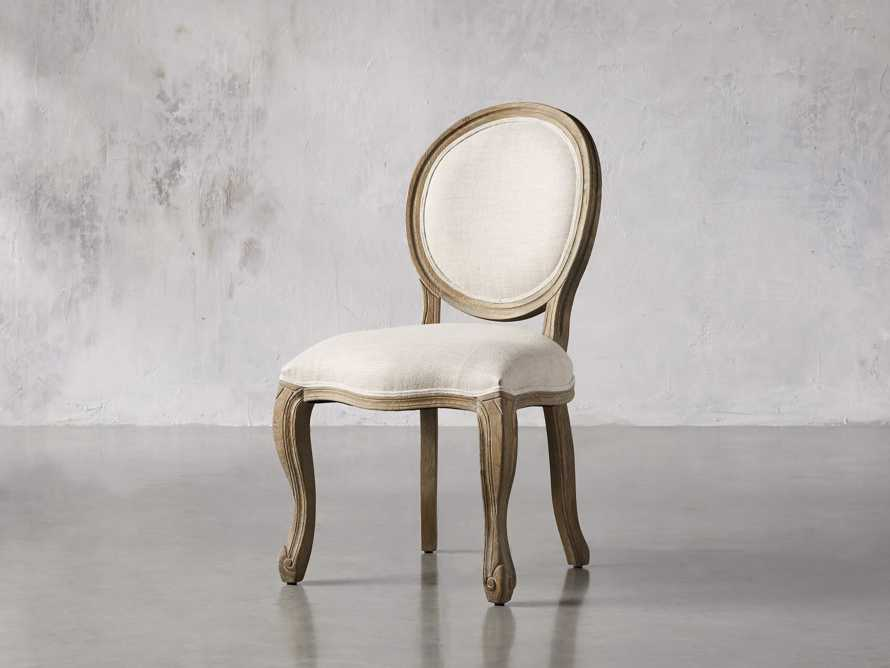 Margot Upholstered Dining Side Chair in Weathered, slide 3 of 6