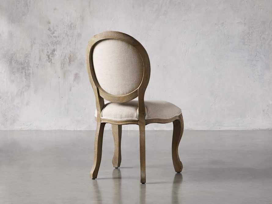 Margot Upholstered Dining Side Chair in Weathered, slide 4 of 6