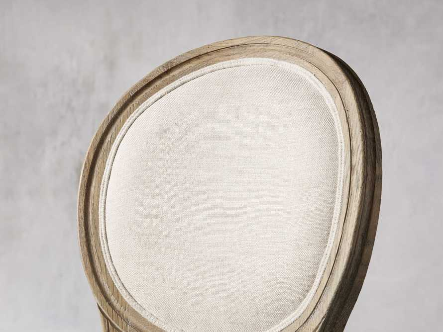 Margot Upholstered Dining Side Chair in Weathered, slide 5 of 6