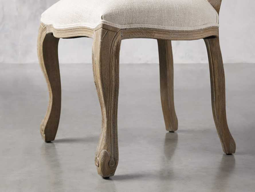 Margot Upholstered Dining Side Chair in Weathered, slide 6 of 6