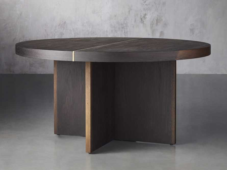 """Mihaela 60"""" Round Dining Table in Vin Rosu, slide 1 of 4"""