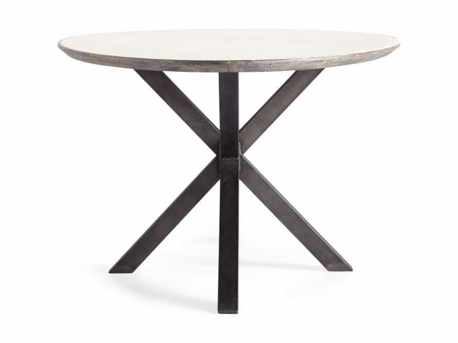 "Meridian 79"" White Marble Dining Table, slide 6 of 8"