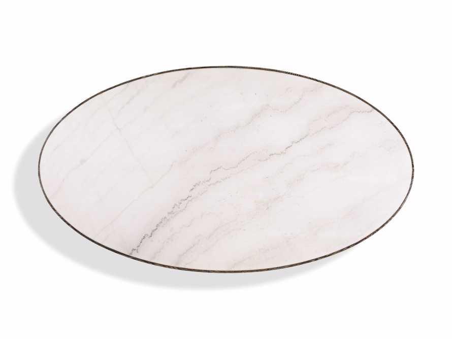 "Meridian 79"" White Marble Dining Table, slide 4 of 8"