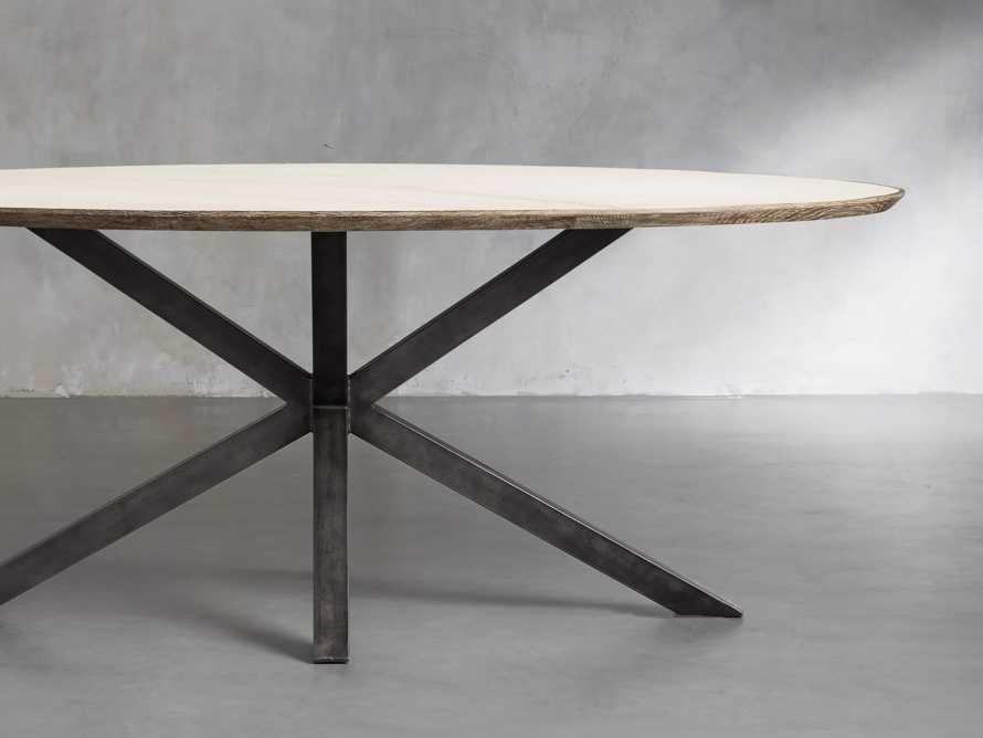 "Meridian 79"" White Marble Dining Table, slide 2 of 8"