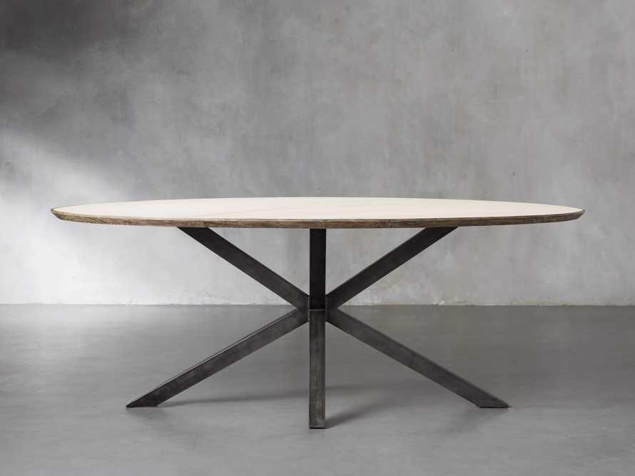 "Meridian 79"" White Marble Dining Table, slide 3 of 8"