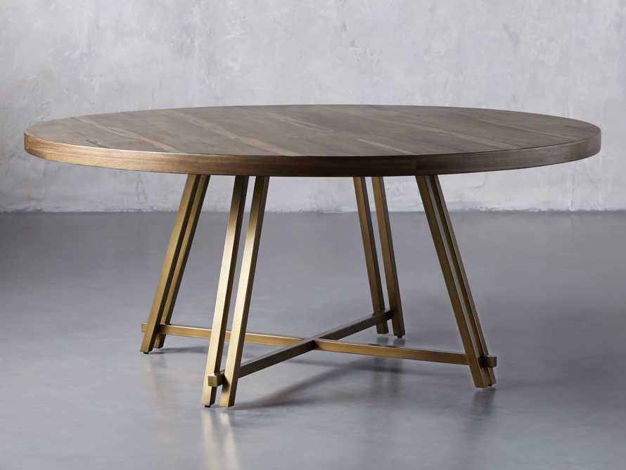 "Nika 70"" Round Dining Table, slide 1 of 6"