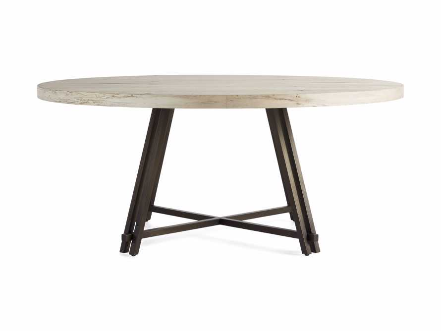 "Nika 70"" Spalted Oak Round Dining Table, slide 2 of 3"