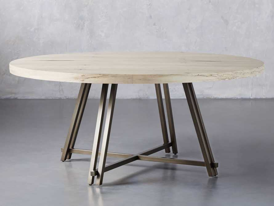 "Nika 70"" Spalted Oak Round Dining Table, slide 1 of 3"