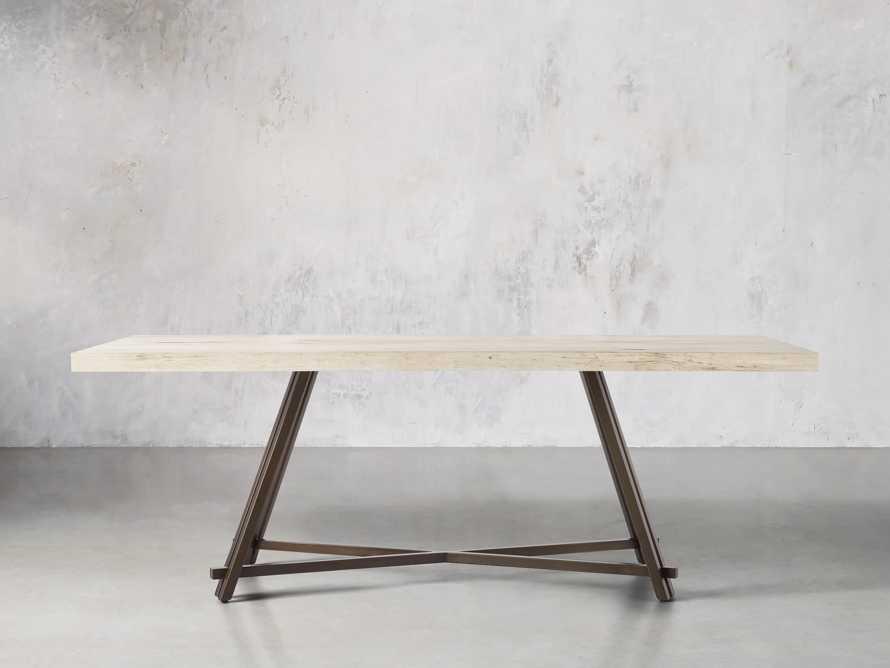"Nika 72"" Spalted Oak Dining Table, slide 3 of 6"