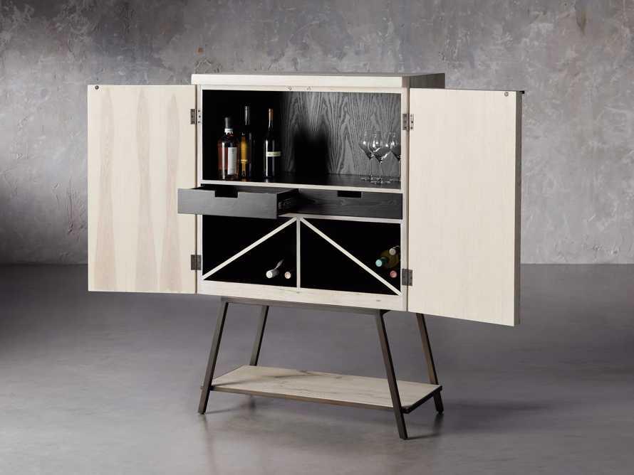 """Nika 36"""" Spalted Oak Bar Cabinet, slide 3 of 10"""