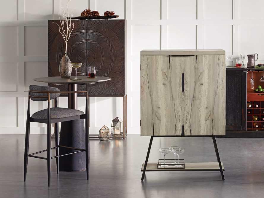 """Nika 36"""" Spalted Oak Bar Cabinet, slide 9 of 10"""