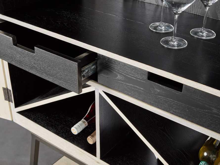 """Nika 36"""" Spalted Oak Bar Cabinet, slide 6 of 10"""