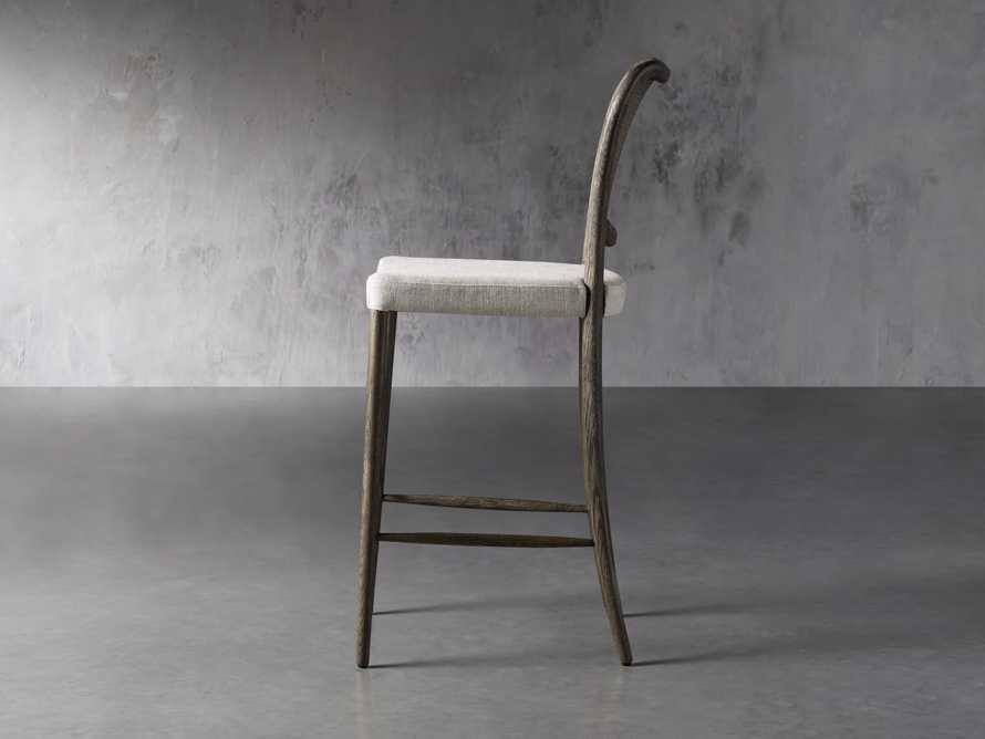 Noa Barstool in Cinder with Linen Natural seat, slide 3 of 7