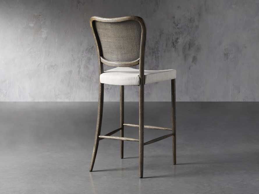 Noa Barstool in Cinder with Linen Natural seat, slide 4 of 7