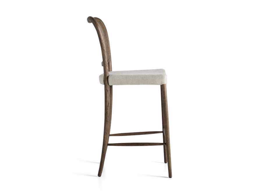 Noa Barstool in Cinder with Linen Natural seat, slide 7 of 7