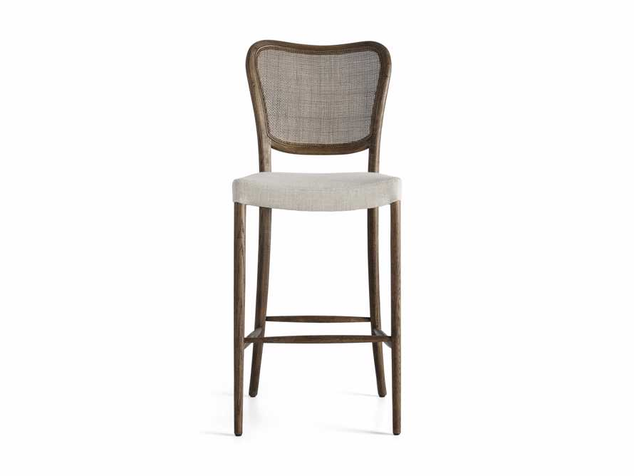 Noa Barstool in Cinder with Linen Natural seat, slide 6 of 7