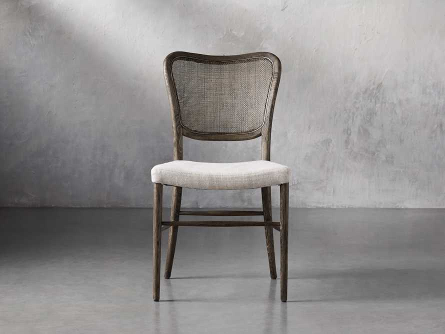Noa Dining Chair in Cinder with Linen Natural seat, slide 2 of 9