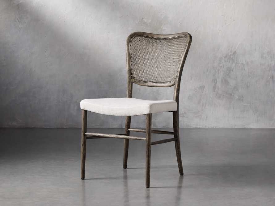 Noa Dining Chair in Cinder with Linen Natural seat, slide 3 of 9