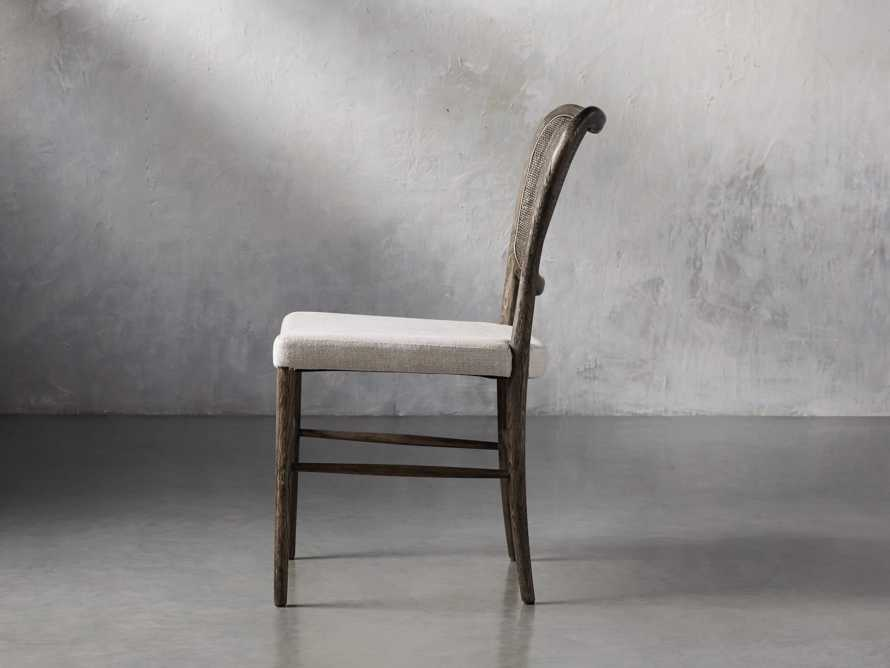 Noa Dining Chair in Cinder with Linen Natural seat, slide 4 of 9