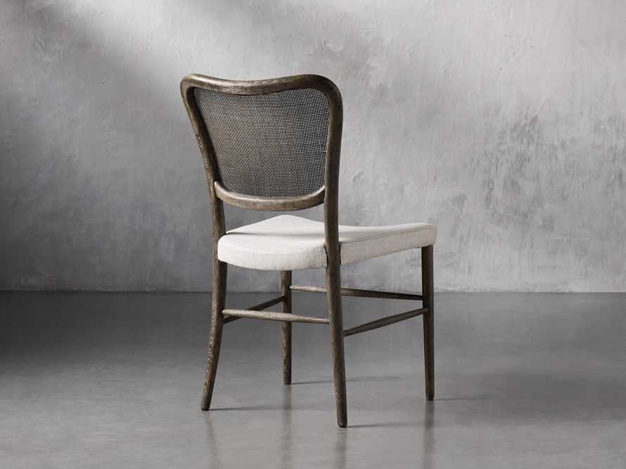 Noa Dining Chair in Cinder with Linen Natural seat, slide 5 of 9