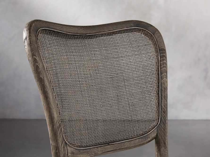 Noa Dining Chair in Cinder with Linen Natural seat, slide 6 of 9