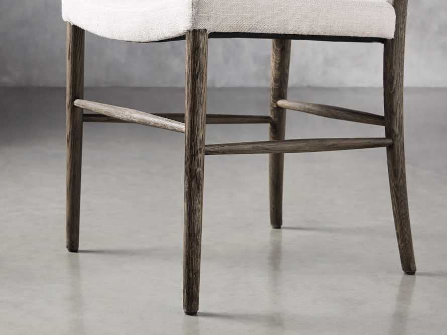 Noa Dining Chair in Cinder with Linen Natural seat, slide 7 of 9